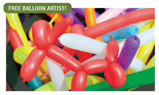 Balloon animals for the kids.