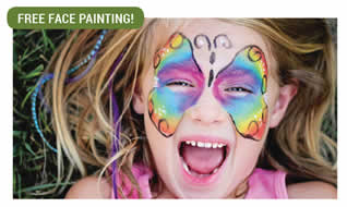 Free facepainting for the kids.